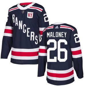 Youth New York Rangers Dave Maloney Adidas Authentic 2018 Winter Classic Home Jersey - Navy Blue